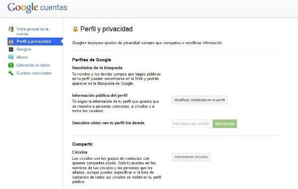 privacidad google+
