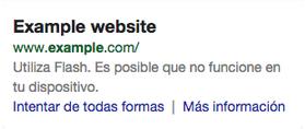 Google no quiere webs con flash
