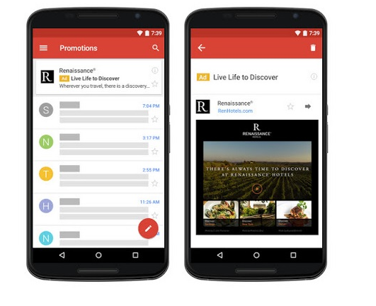 Gmail Ads Mobile