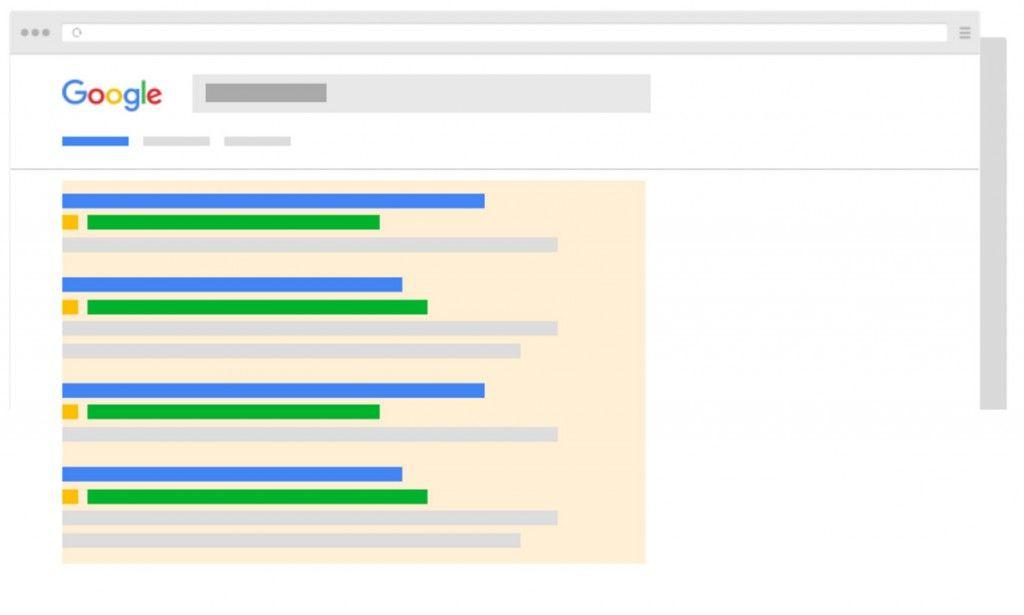 Nueva estructura de búsqueda de Google