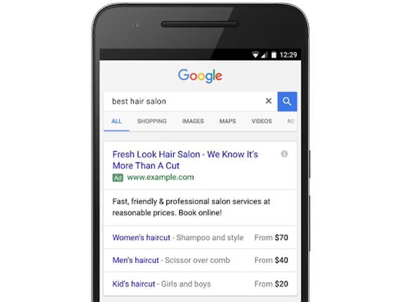 Extensión de Precio de Google AdWords