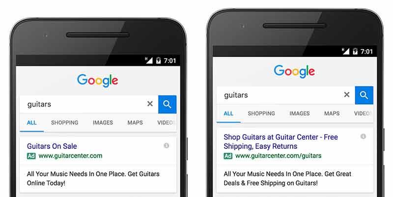 Anuncios Extendidos de Google AdWords